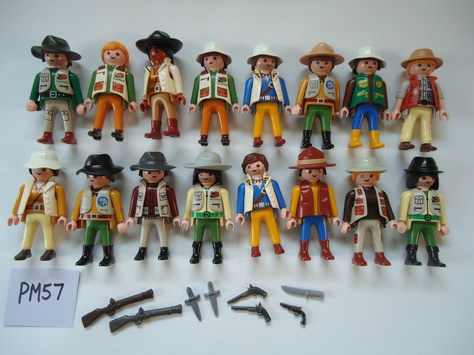 Playmobil people figures figures figures lot of safari zoo dino hunters explorers EUC PM57 9a91e9