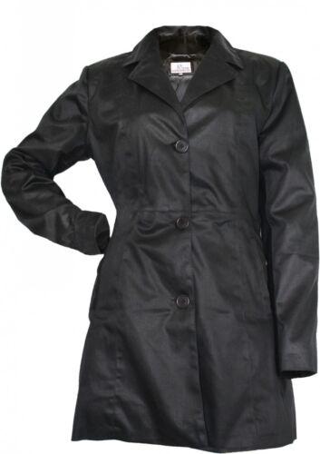 German wear Damen mantel Trenchcoat aus Baumwolle Schwarz