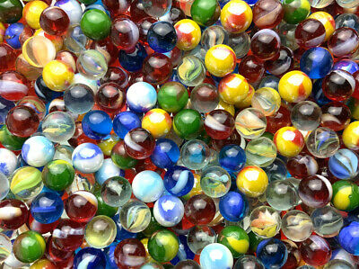 50 pack Mega Marbles TriColor Cats Eye Peewee 12mm or 1//2 Marbles