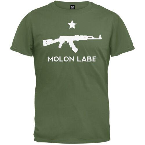 Molon Labe AK47 Military Green Adult Mens T-Shirt