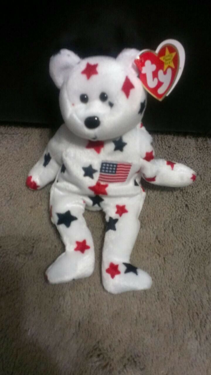 Glory The Bear 1997 Ty Beanie Baby RED,WHITE,blueE RED,WHITE,blueE RED,WHITE,blueE  Proceeds Go To A Veteran  d72601