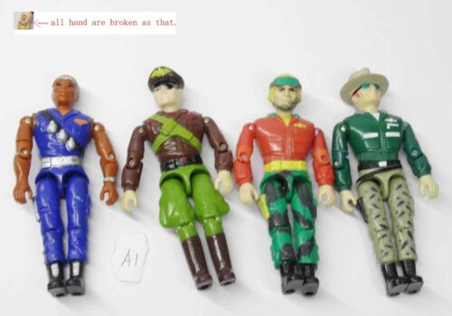 Soldier Military action figure hands were broken A1 Lot of 4 LANARD The Corps