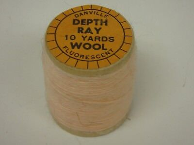 Depth Ray Wool Thread 10 Yards Fly Tying Crafts Fluorescent Pink Wood Spool!