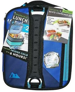 Details About Ultra Arctic Zone Expandable Lunch Box W 2 Ice Walls Bento Container Set Blue