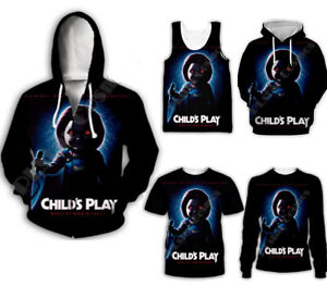 Childs play Bride of Chucky doll Women Men 3D Print Hoodies Pullover Sweatshirts