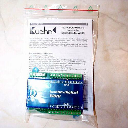Kühn 87010 NEU Kuehn Universeller Schaltdecoder WD10 DCC//MM Art