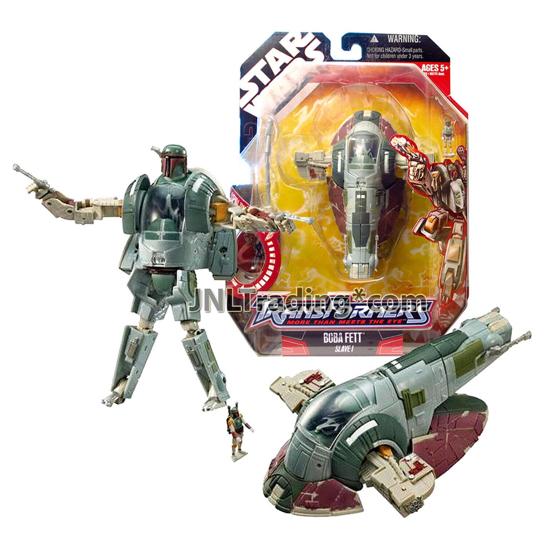 2007 Year estrella guerras Transformers 7 Pollici cifra BOBA FETT SLAVE I