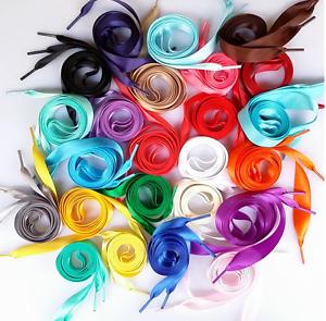 2CM-Wide-various-colors-Flat-Shoelaces-Ribbon-Satin-Shoe-Laces-Sport-Shoes