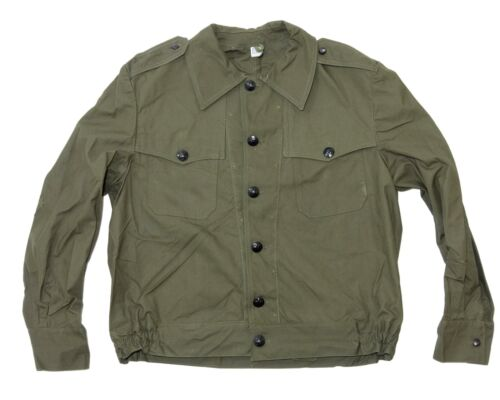 Vintage Bulgarian army surplus IKE style canvas jacket with pistol holster