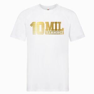 Kids-10-Mil-MGZ-Youtuber-Pullover-Hoodie-T-Shirt-Gaming-Gamer-Team-Morgz-Tee-GLD