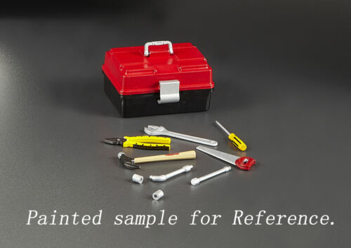 1//10 RC Car Truck Unpainted Toolbox with tools set  48522