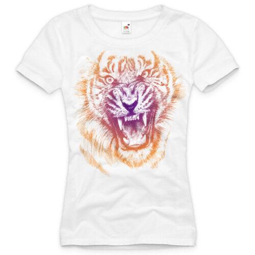 Design LEOPARD T-Shirt DAMEN leo tigerkatze safari print druck XS S M L XL XXL ♀