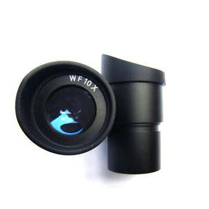COPPIA di WF10X/20 Microscopio Oculare 30mm Wide Angle Lens con gomma eyeguards