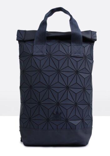Adidas Originals Roll Top Backpack Geometric 3D Mesh Design Roll Up