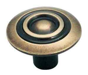 Amerock-BP591-AE-Antique-Brass-Knob-Allison-Traditional-Classic-Knob-English