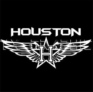 HOUSTON DECAL VINYL STICKER TEXAS TEXANS FLY WING H-TOWN ...