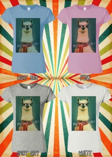 Llama Lama Bonjour Cool Hipster Funny Men Women Vest Tank Top Unisex T Shirt 403