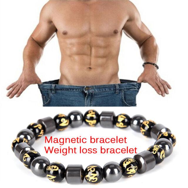 Magnetic Therapy Armband Perlen Hämatit Stein Gesundheitswesen Gewichtsverlust X