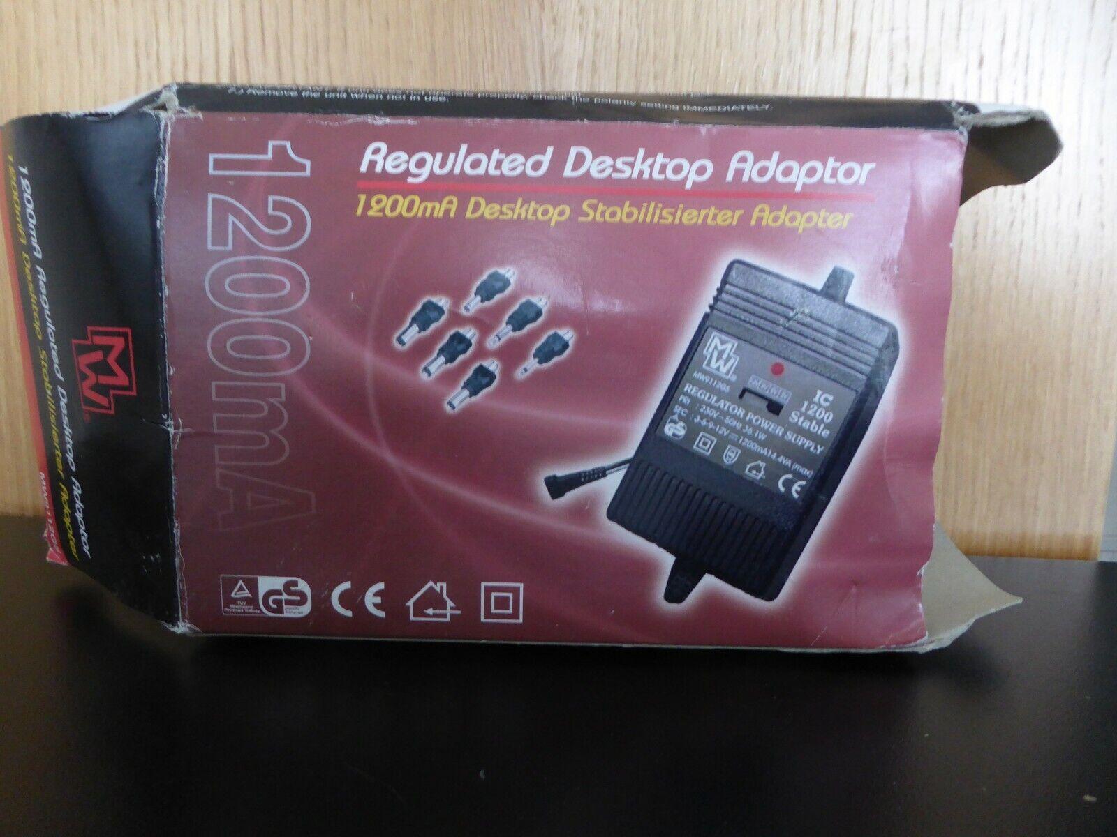 1200ma Regulated Desktop Power Adaptor