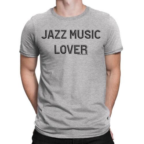 Amante de la Música Jazz Para hombres Camiseta Música Piano Trompeta Banda de Tambores de Guitarra Novedad