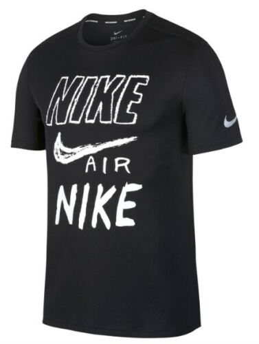 Nike Drifit Men/'s Sport Shirt Black White all Sizes New with Label