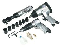 Sealey Air Tool Kit 3pc With Accessories Sa2003kit