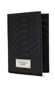 corrispondenza di colore selezione speciale di alta moda Details about Victoria's Secret Black Passport Cover ID Card Holder