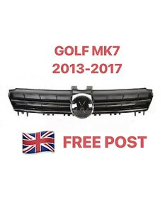 NOUVEAU-VW-GOLF-VI-7-MK7-2012-2017-Front-Upper-Center-Grill-Grille