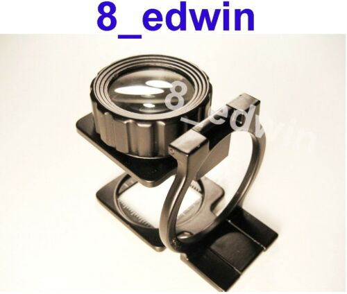 Large Lens 10x30 Professional Heavy Steel Linen Tester Fold Loupe