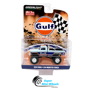 Greenlight-1-64-Ford-F250-Monster-Truck-GULF-Livery-Bigfoot-In-stock
