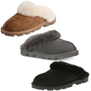 72c6a3b53b4b21 UGG Australia Women NEW Coquette Slip On Shoes Indoor Outdoor Suede ...