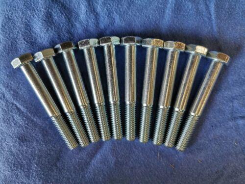 10 Stk verzinkt 10x75 DIN 931 Sechskant-Schrauben M10x75 8.8 Teilgewinde gal