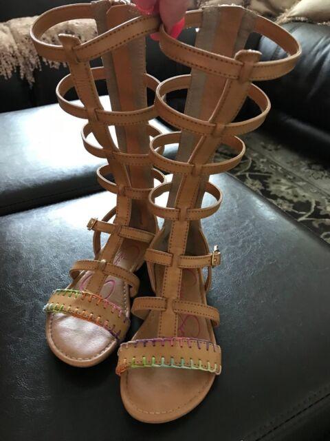 1851d1a27f0d Jessica Simpson JS2160 Girls Dorinda Gladiator Sandal- Size 11 for ...