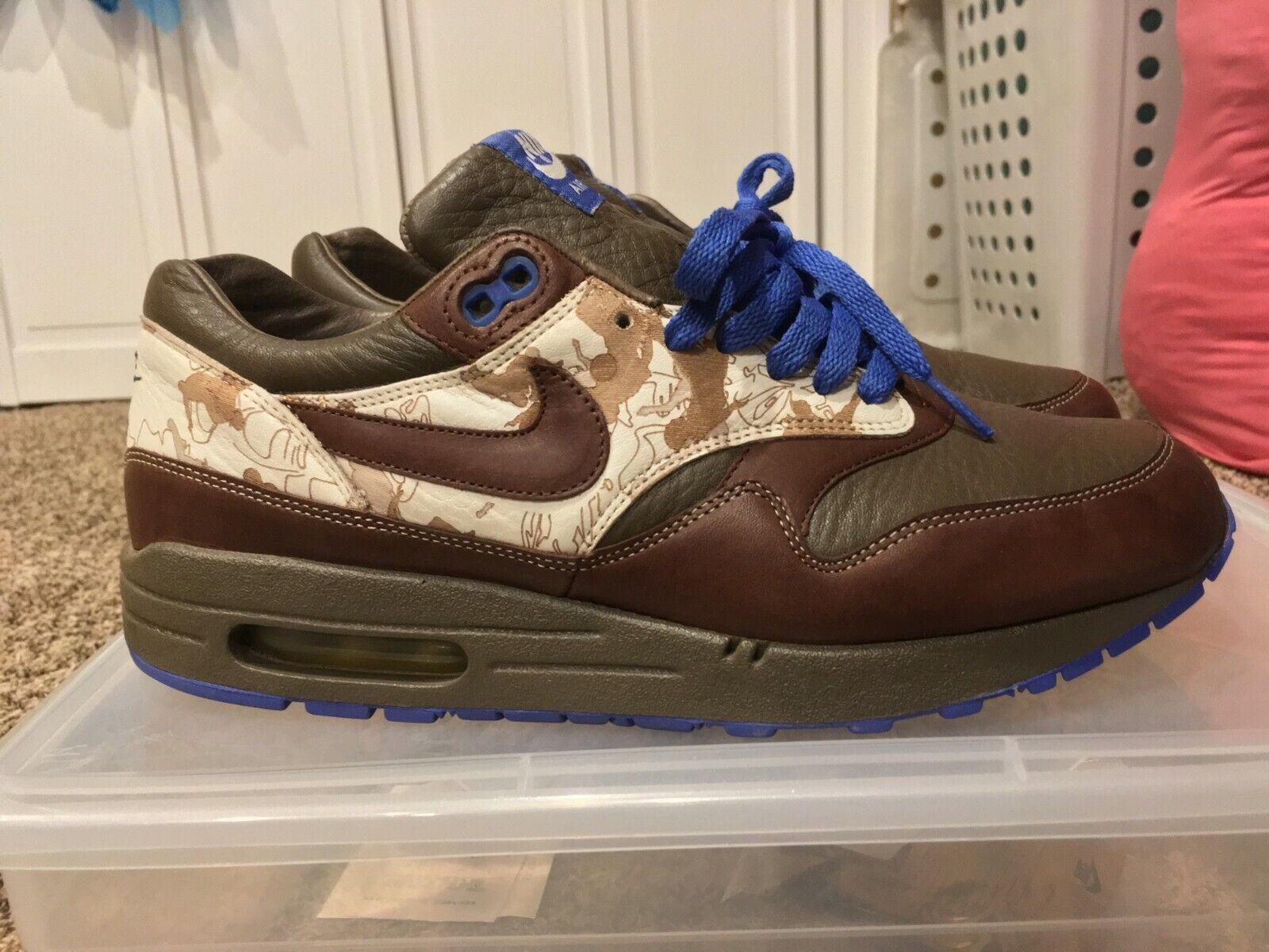 Nike Air Max 1 Truque Pack Chocolate 309740-221 Size 9 Atmos Patta VNDS