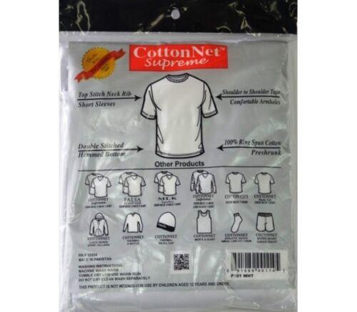 CottonNet men/'s Crew Neck T-Shirt Blanks 100/% Comb Cotton Preshrunk Color White