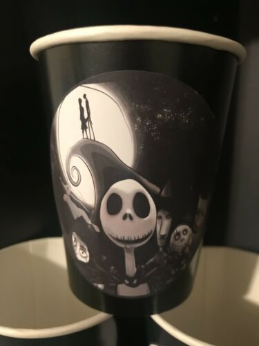 BLACK 48 The Nightmare Before Christmas Movie Birthday Party Paper Cups