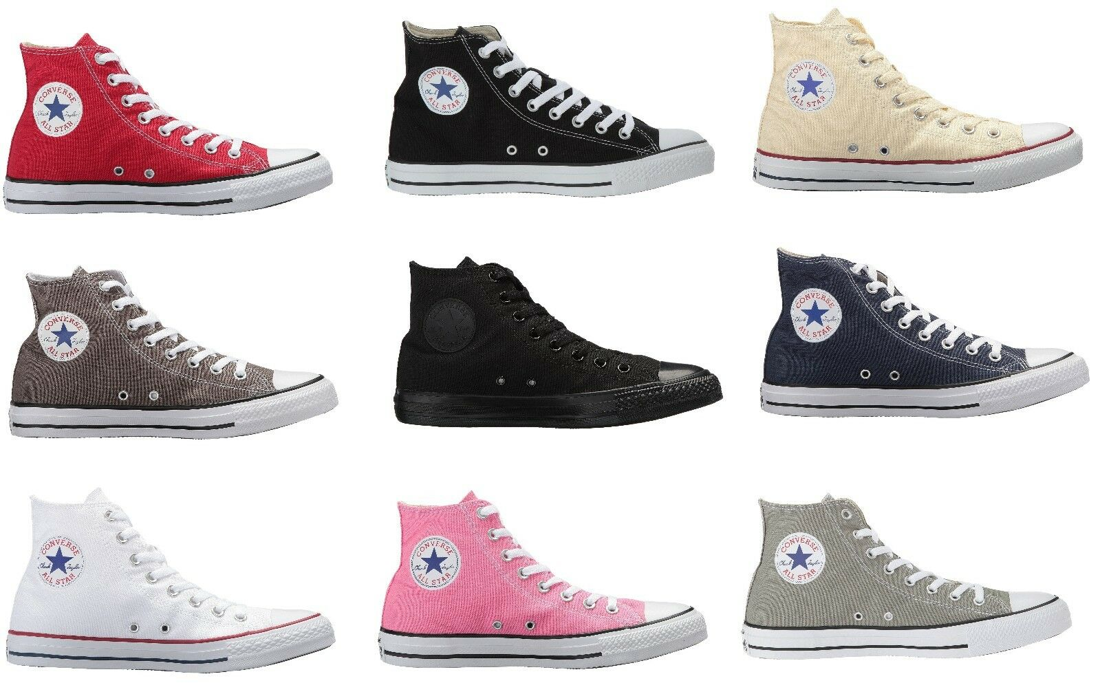 NEW Converse Chuck Taylor All Star High Top Canvas Casual Scarpe da Ginnastica Unisex Scarpe