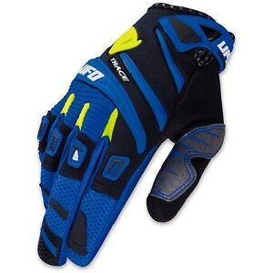Guanti-Adulto-Cross-Enduro-Ufo-Trace-Blu-Mx-Gloves-Blue-MTB-BMX-DH