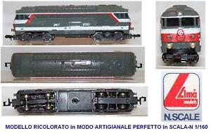 LIMA-203-BB67001-VINTAGE-SNCF-MULTISERVICE-RIDIPINTA-REPAINTED-HAND-MADE-SCALA-N