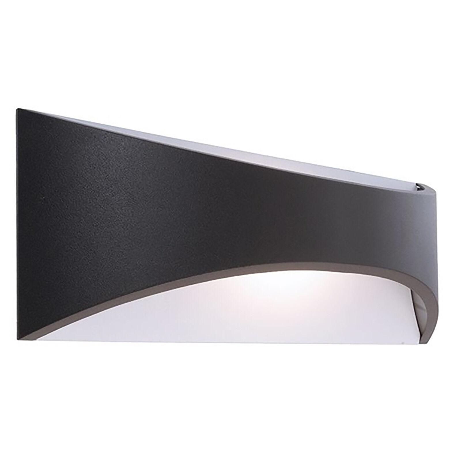 Applique alluminio pressofuso IP65 lampada parete doppia emissione luce led 10w