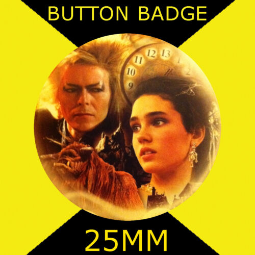 Labyrinth 25mm BUTTON BADGE Jareth and Sarah Cult TV