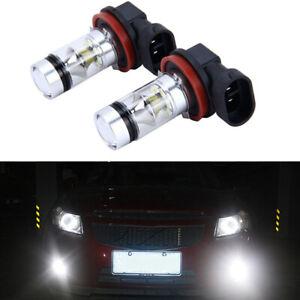 DRL-H8-H9-H11-6000K-100W-Haute-Puissance-LED-Phares-Fog-Light-Conduite-Ampoules