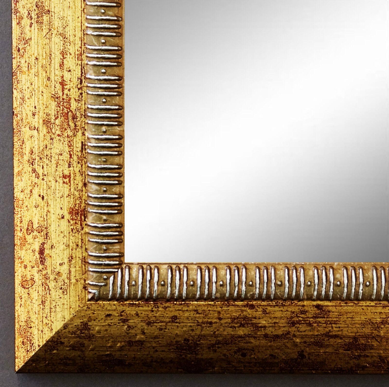 Wandspiegel Hochformat Querformat Turin Antik Gold 4,0 - NEU alle Größen