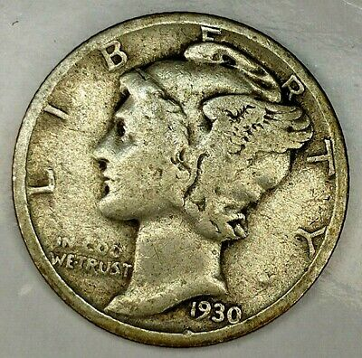 1942-P 10c Mercury Dime 90/% Silver Old US 10 Cents Coin Collectible Ungraded