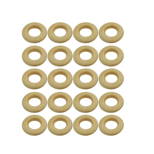 40pc 25mm 30mm Wooden Rings Circle Wood Pendant Connectors DIY Jewelry Craft