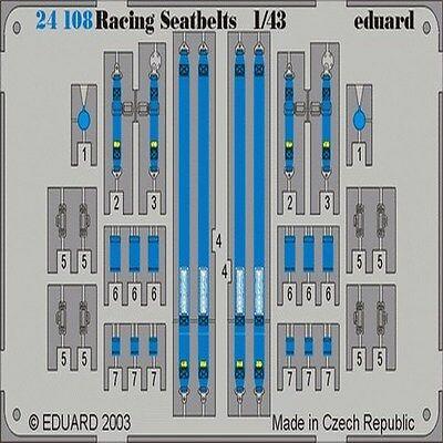 EDUARD MODELS 1//43 Racing Car Seatbelts Willans 4-Points Blue EDU24108