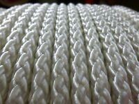 7mm X 100 Ft. Superior Diamond Braid Polyester Rope Hank.white.