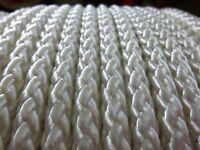 7mm X 100 Ft. Superior Diamond Braid Polyester Rope Hank.white.