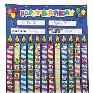 Happy Birthday Pocket Chart Cupcake Cutouts For Student Names
