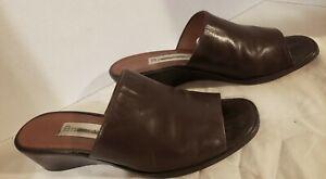 Etienne-Aigner-Leather-Slides-Shoes-Women-039-s-US-Size-8M